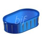 Plastikinis baseinas 9x3,6x1.5 m, ovalo forma